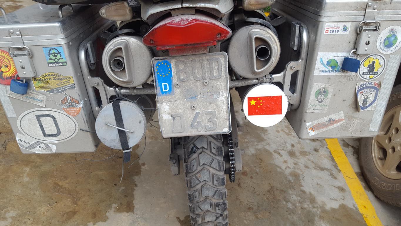 China mit dem eigenen Motorrad
