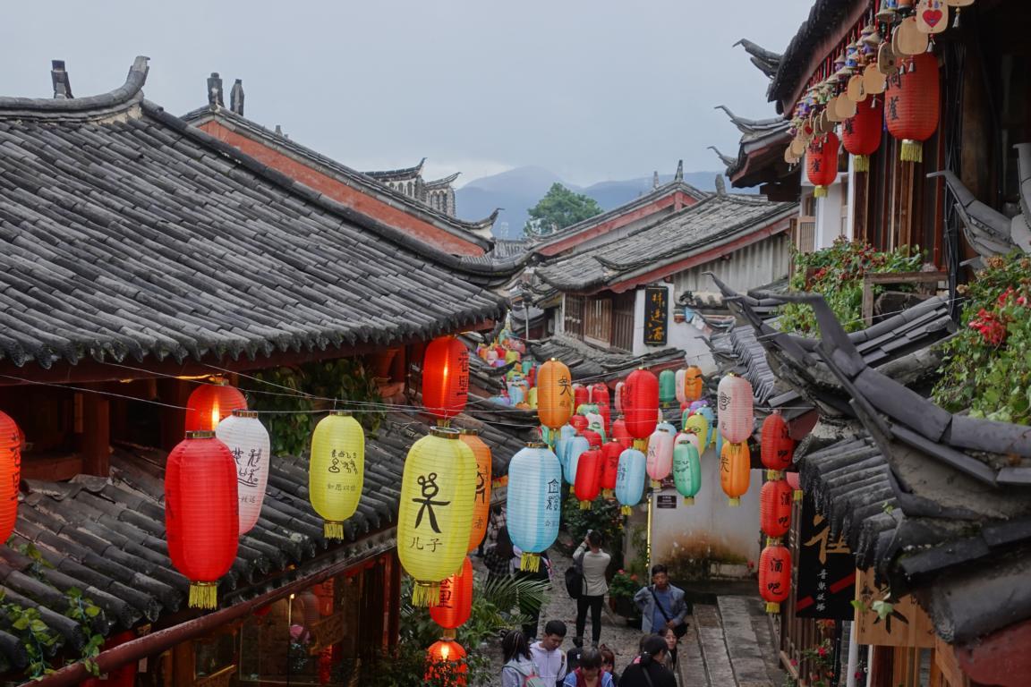 Pandas, chinesische Sternzeichen und Tempel