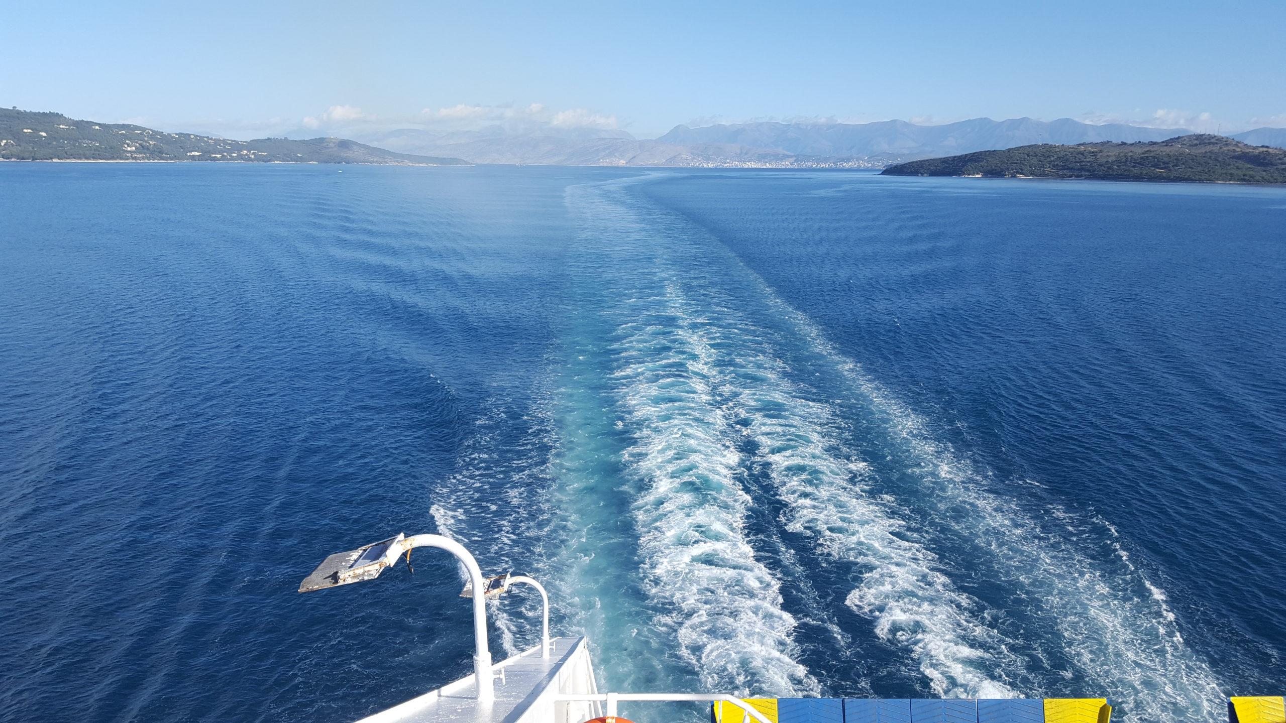 Wir sind auf der Fähre nach Griechenland…